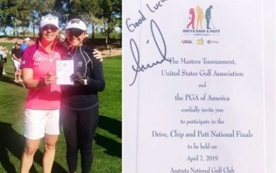Yana Takes a Swing at Drive Chip and Putt Finals At Augusta!